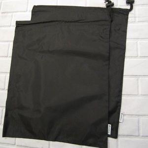 Lot of 2 Lululemon Black Drawstring Cinch Gym Bag